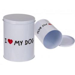 Grossiste boite ronde en métal i love my dog