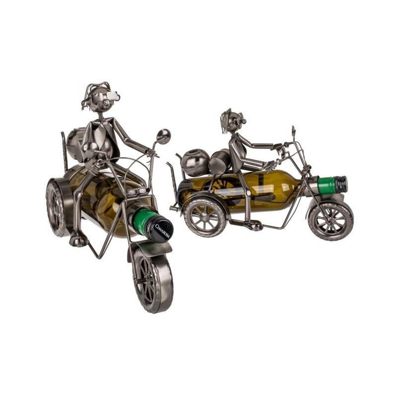Grossiste support pour bouteille en métal forme de motard
