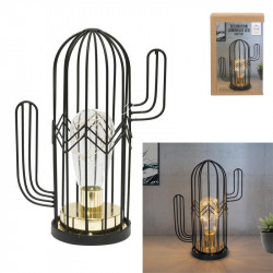 Lampe cactus à poser