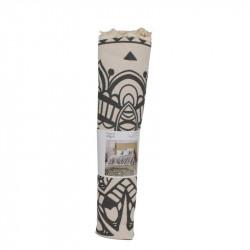 Grossiste tapis rond ethnique noir 120cm