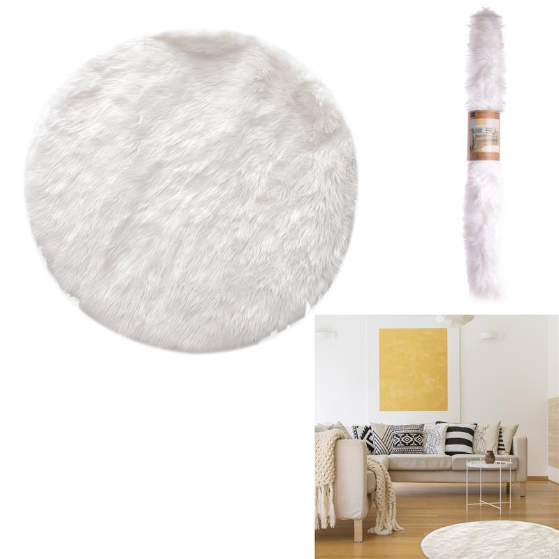 Grossiste tapis rond imitation fourrure 115cm