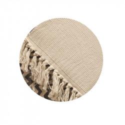 Grossiste tapis ethnique avec bandes franges 140x200cm