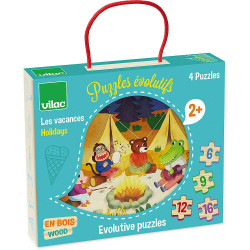4 puzzles évolutifs Les...