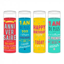 Grossiste bougie d'anniversaire en verre