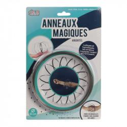 Grossiste anneaux magiques avec spirales argentées