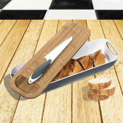 Grossiste et fournisseur. Corbeille à pain 3 en 1 avec couteau inclus