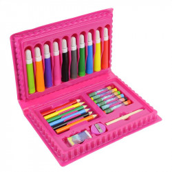 Grossiste mallette de coloriage rose