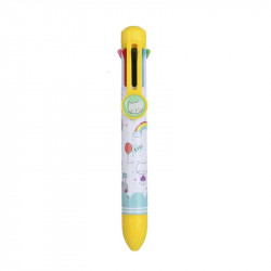 Grossiste stylo 8 couleurs jaune