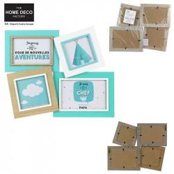 Grossiste cadre photo pêle-mêle pour enfant bleu turquoise