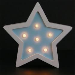 Grossiste lampe en bois étoilée 13x3x13 cm