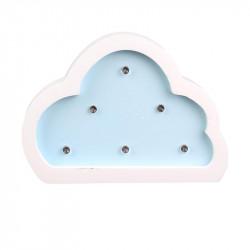 Grossiste lampe bois nuage 12x3x9 cm bleue