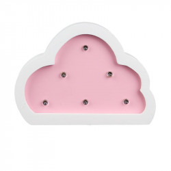 Grossiste lampe bois nuage 12x3x9 cm rose
