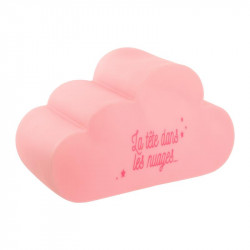 Grossiste veilleuse en forme de nuage rose 15x25x12cm