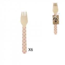 Fourchette 16cm à pois...