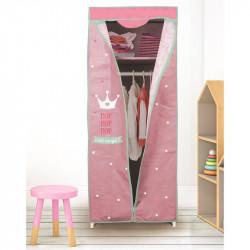Grossiste armoire à dressing rose 149x43x58cm
