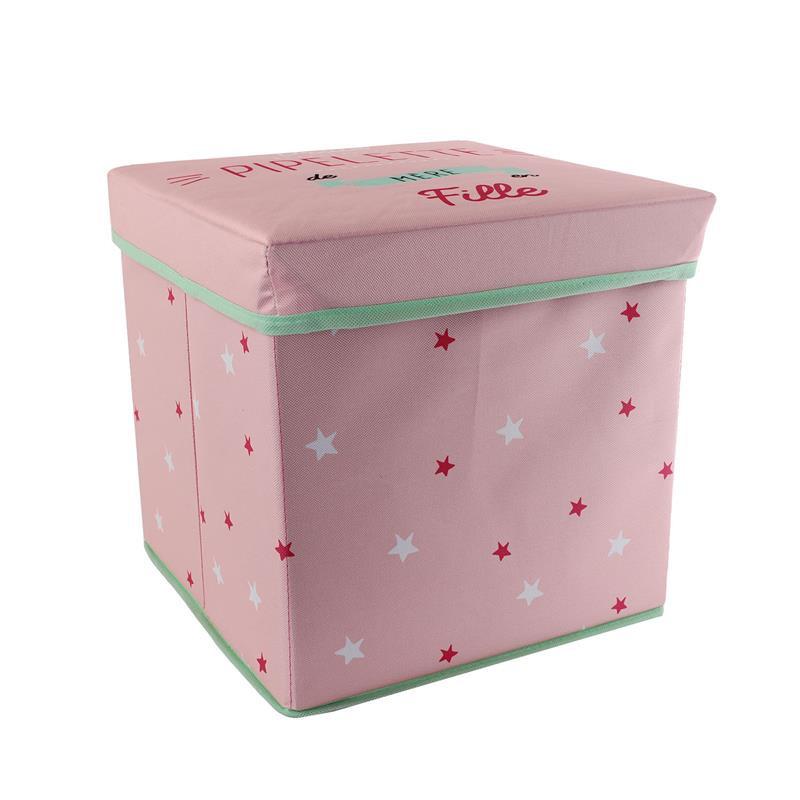 Grossiste cube de rangement pliable rose 30x30x30cm