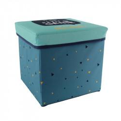 Grossiste cube de rangement pliable bleu 30x30x30cm