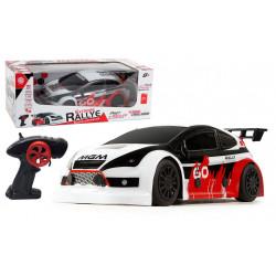 Grossiste turbo Challenge - voiture de rallye noir et rouge radiocommandée - échelle 1/16