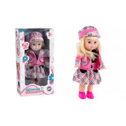 Boîte avec poupée chapeau rose