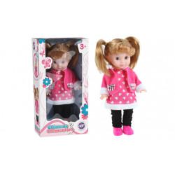 Boîte poupée avec nattes 27 cm