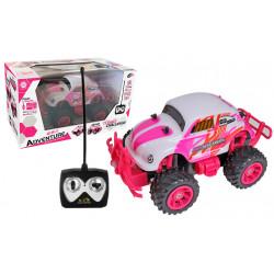Boîte auto rétro rose