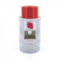 Grossiste ustensile à découper les fraises avec un dénoyauteur à cerise rouge