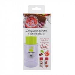 Grossiste ustensile à découper les fraises avec un dénoyauteur à cerise