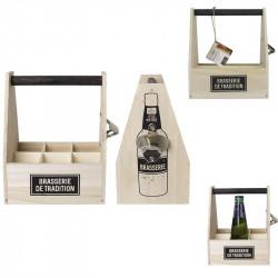 Grossiste porte-bouteille de 6 emplacements avec un décapsuleur
