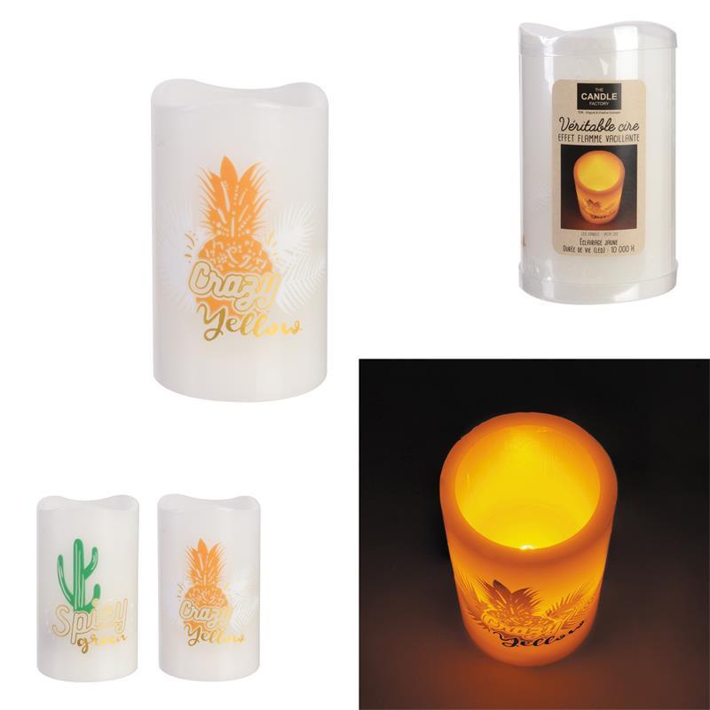 Grossiste bougie LED colorée pour déco 12.5x7.5cm