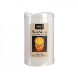Bougie LED colorée pour déco 12.5x7.5cm orange
