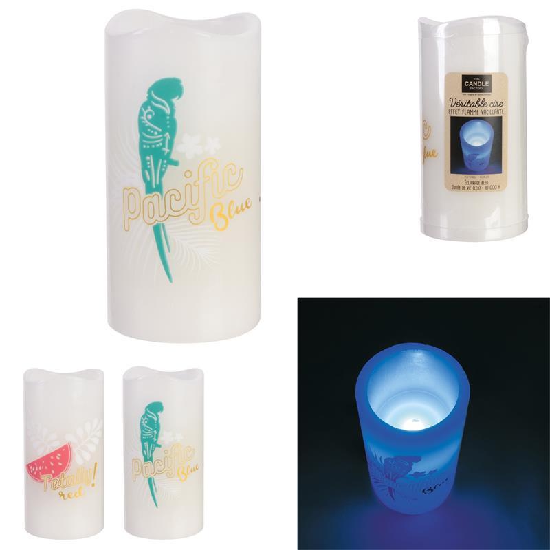 Grossiste bougie LED colorée pour décorer 15x7.5cm