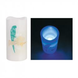 Grossiste bougie LED colorée pour décorer 15x7.5cm bleue