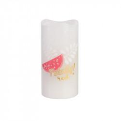 Grossiste bougie LED colorée pour décorer 15x7.5cm rose