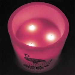 Bougie LED colorée pour décorer 15x15cm rose