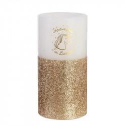 Bougie LED en forme de licorne 15x7.5cm dorée