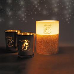 Grossiste coffret photophore et bougie licorne LED