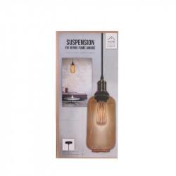 Grossiste suspension en verre ambré en forme de bouteille