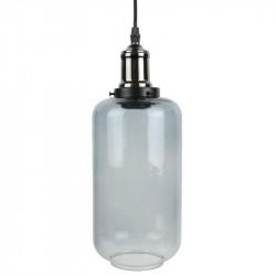 Grossiste suspension en verre fumé gris en forme de bouteille
