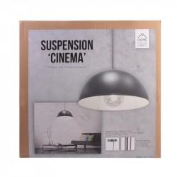 Grossiste suspension de cinéma grise avec intérieur blanc 40cm