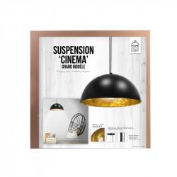 Grossiste suspension de cinéma noire avec un intérieur doré