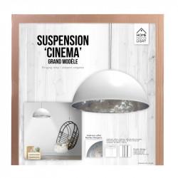 Grossiste suspension de cinéma blanche avec un intérieur argent