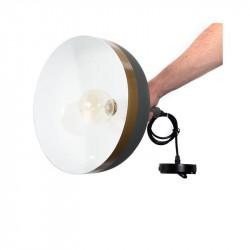 Grossiste suspension en forme de cloche blanche avec cercle doré