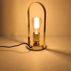 Grossiste lampe à poser avec anse doré