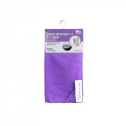 Grossiste et fournisseur. Chiffon microfibre 30x30 cm x3 violet