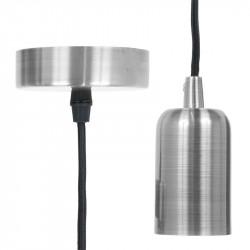 Grossiste suspension argentée avec câble noir