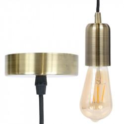 Grossiste suspension dorée avec câble noir