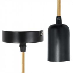 Grossiste suspension noire avec câble doré