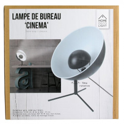 """Grossiste lampe de bureau noire style """"Cinéma"""""""