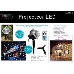 Grossiste projecteur à LED blanche motif neige