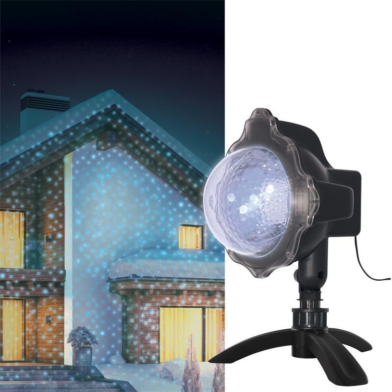 Grossiste projecteur à LED bleue motif neige